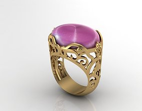 silver 3D printable model King Ring