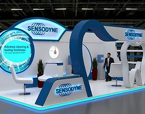 3D model Three Side Open 8x4Mtr Exhibition Stand