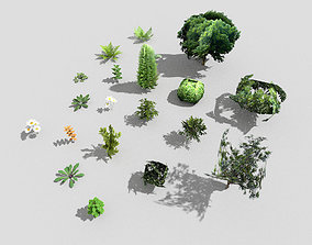 low poly foliage pack 3D asset VR / AR ready