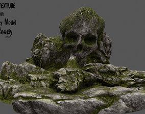Skull Cave 3D model realtime
