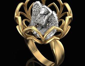 Ring Flower Angel 3D print model