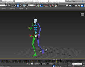 3D model Walking BIP Motion Capture 160 Files