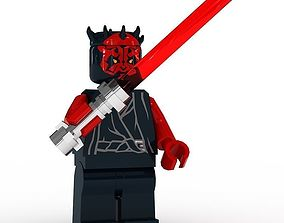 3D model LEGO Minfigure Darth Maul