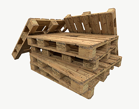 3D model pallet type industrial cp8 3 sets of texture