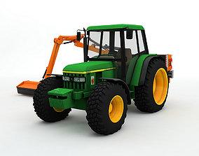 3D model John Deer 6310 Tractor With Mower Arm
