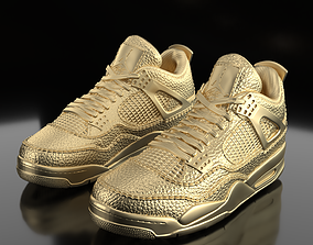 shoes 3D print model Air Jordan 4