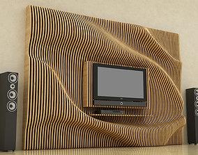 3D model Parametric TV Show furniture-set