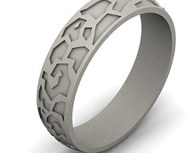 Ring 3D print model jewellery silver