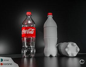 plastic Coca Cola bottle 3D model