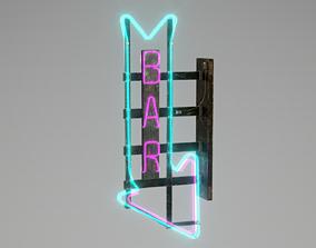 3D asset Neon Bar Sign