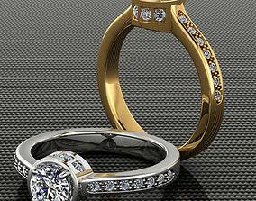 3D printable model Engagement Half-Carat Diamond Ring 3