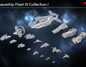 Spaceship Fleet III Collection 3D model