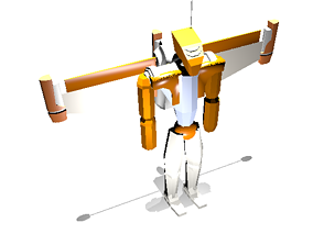 Futuristic War-Robot with Jetpack 3D model