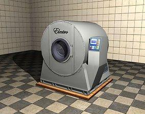 Industrial Washing Machine 3D asset