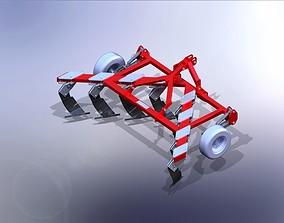300HP SubSolier Chisel Plow 4 m Wide 3D model