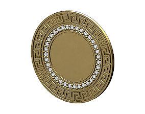 Diamond Greek key picture frame pendant and 3D print model