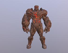 Fire Golem Elemental 3D model animated