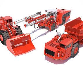 Underground mining machines 1 3D model
