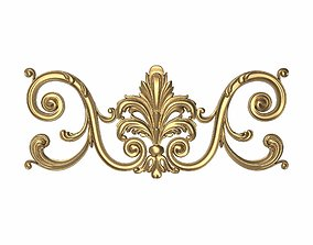 gold gold decorative pattern ready for 3D printing