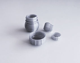 drink kitchen Bottle and Screw Cap 3D printable model