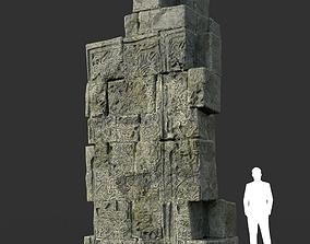 Low poly Mayan Inca Ruin Temple Modular 01-8k 3D asset
