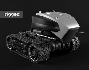 3D model Robot on caterpillars