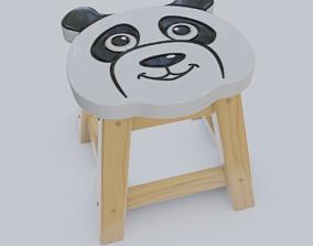 3D model Child Step Stool Panda