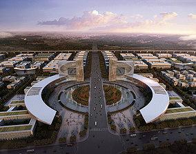 3D model Industrial Area Planning