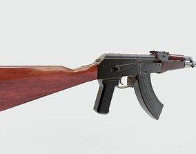 3D asset Black AK47 Assault Rifle Game Ready