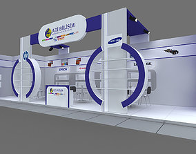 Exhibition Stand - ST001 3D model