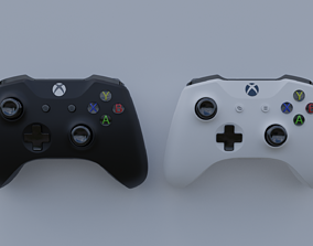 3D XBOX Controller - black and white