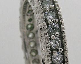 natural 3D print model Diamond Ring