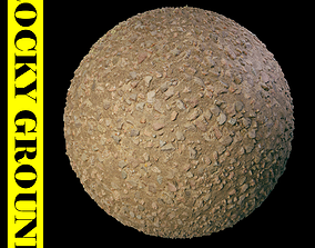 Rocky ground Material 3D model