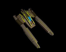 small space ship - fighter 002 3D asset game-ready