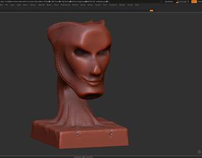 Modern concept head sculpture 3d print model