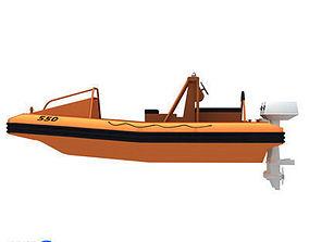 3D model Rescue boat 01