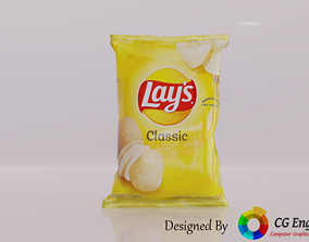 realtime Lays 3D Model - Lays Classic Yellow Flavour
