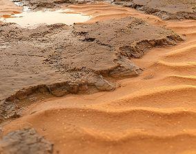 Procedural rocks with sand 3D model