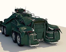 Sci-Fi Military Car 3D