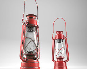Oillamp with dirty and clean textures 3D asset