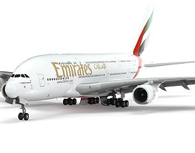 Airbus A380 Fly Emirates - Element 3D