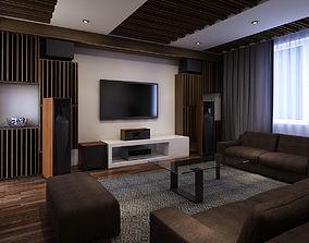 Entertainment room modern 3D model