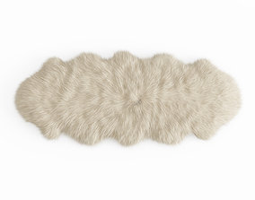 3D model Fluffy decorative carpet made of Icelandic 1