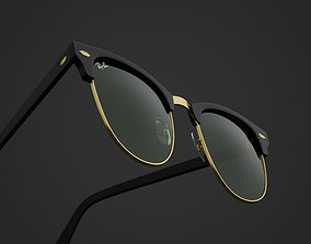 RayBan-Clubmaster-glasses 3D model