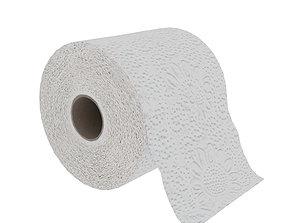 restroom 3D model low-poly Toilet paper