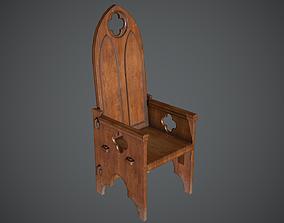 Chair Throne Medieval 3D model