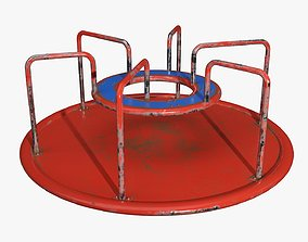 3D model Carousel Merry-go-round 01