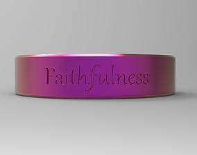 Faithfulness ring pink 3D printable model