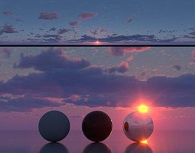 3D model Skydome HDR - Hazy Dusk Sunset - 3