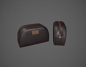 Leather Makeup Bag - Cosmetics Bag 3D model